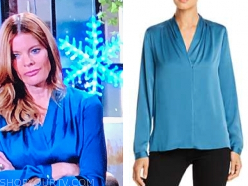 phyllis newman's blue blouse