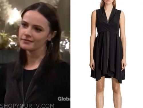 tessa porter's black zipper dress