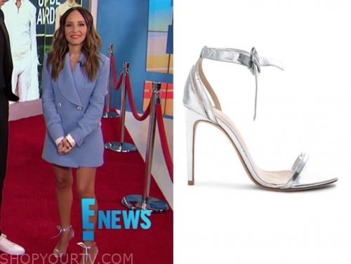 lilliana vazquez's silver sandals