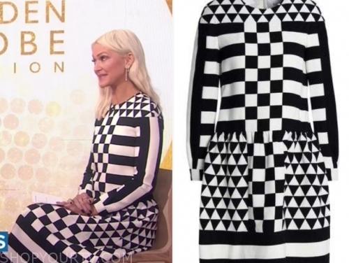 zanna roberts rassi's black and white printed dress