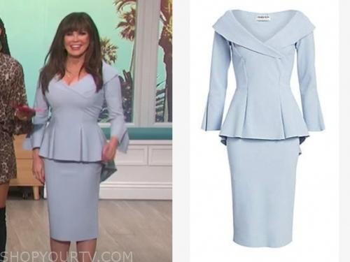marie osmond's blue peplum dress