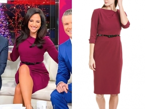 emily compagno's belted sheath dress