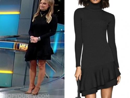 jillian mele's black turtleneck dress