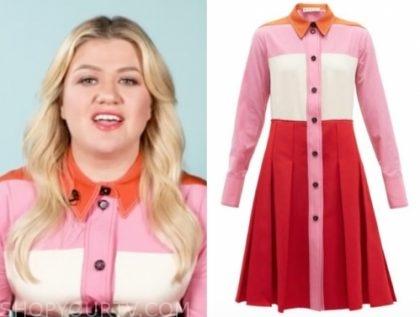 kelly clarkson's colorblock dress
