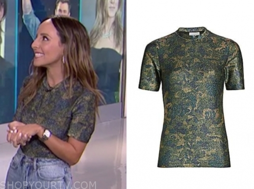 lilliana vazquez's camo metallic top
