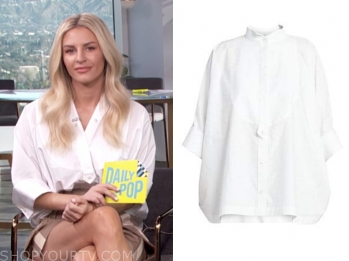 morgan stewart's white blouse