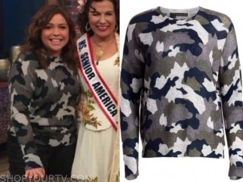rachael ray's camo cashmere sweater
