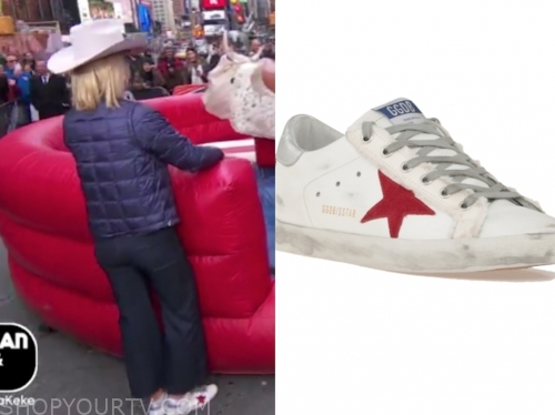sara haines's star sneakers