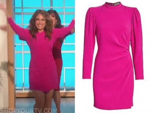 carrie ann inaba's pink drape dress