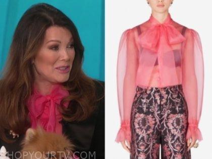 lisa vanderpump's pink bow top