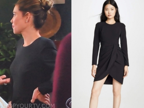victoria newman's black sheath dress
