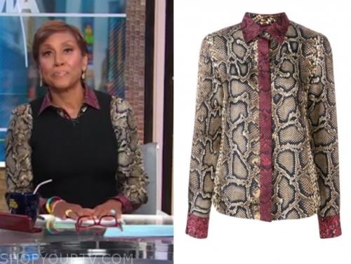 robin roberts's snakeskin blouse
