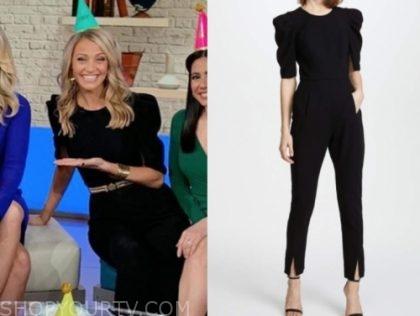carley shimkus's black jumpsuit