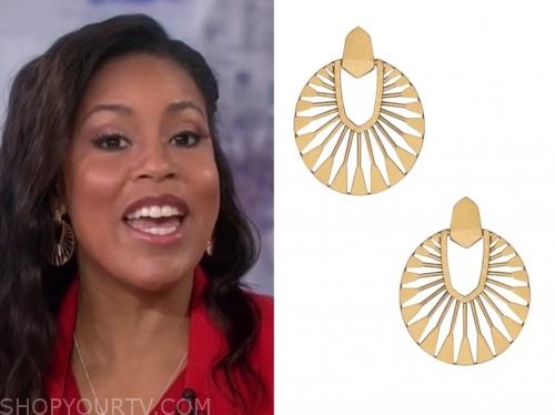 sheinelle jones's gold disc earrings