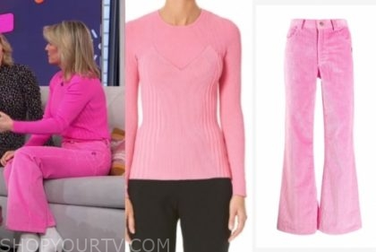dr. jennifer ashton's pink sweater and pink pants
