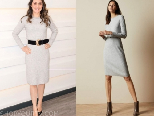 laura tobin's grey knit dress