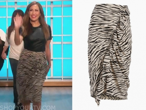 carrie ann inaba's zebra pencil skirt