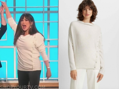 marie osmond's white cashmere sweater