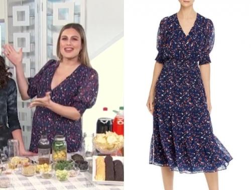 carissa culiner's floral midi dress