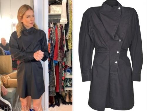 kelly ripa's black faded drape dress