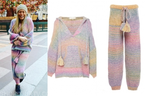 jill martin's rainbow ombre sweater and sweatpants