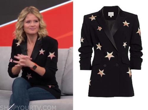 sara haines's black star print blazer