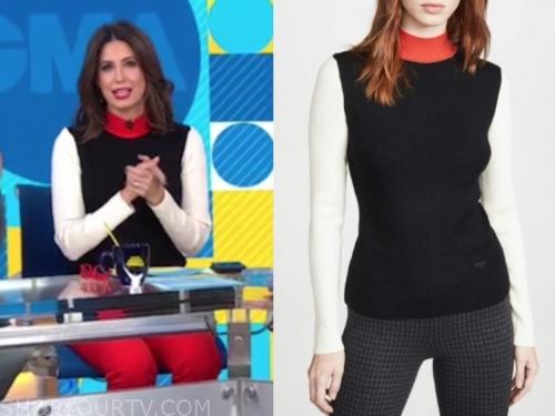 cecilia vega's colorblock sweater