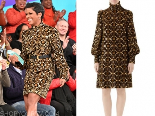 tamron hall's printed long sleeve dress