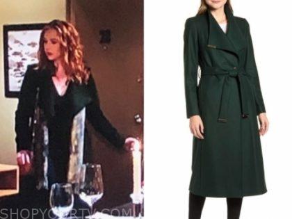 mariah copeland's green coat