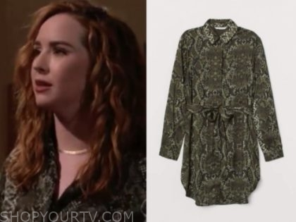 mariah's green snakeskin dress