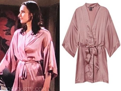 tessa porter's pink kimono robe
