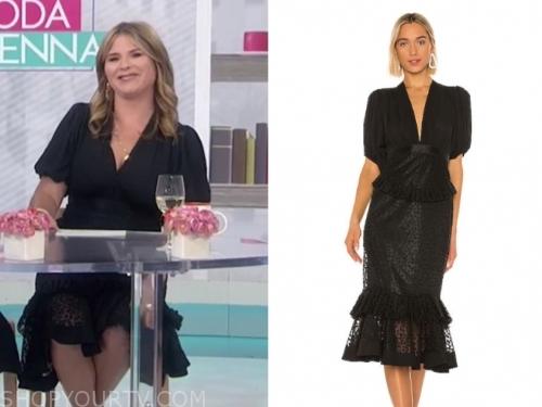 jenna bush hager's black midi dress