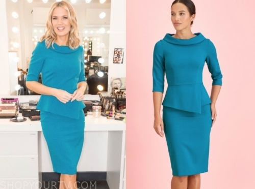 charlotte hawkins's blue peplum dress