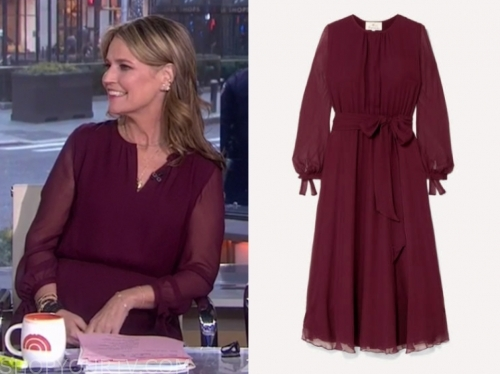 savannah guthrie's burgundy dress
