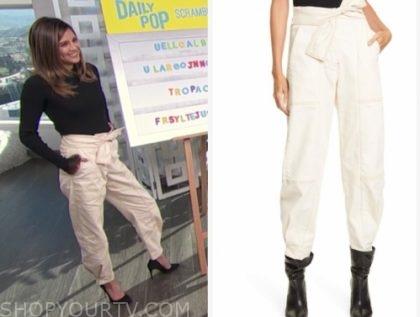 erin lim's ivory tie waist pants