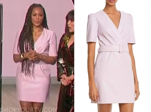 eve's lilac leather dress