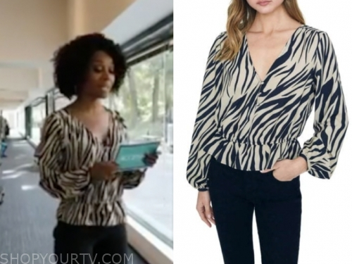 zuri hall's zebra blouse