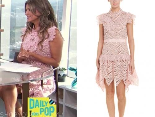 nikki nova's pink lace dress