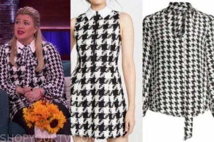 kelly clarkson's houndstooth dress