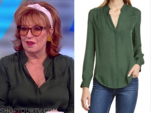 joy behar's green blouse