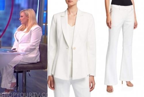 meghan mccain's white pant suit