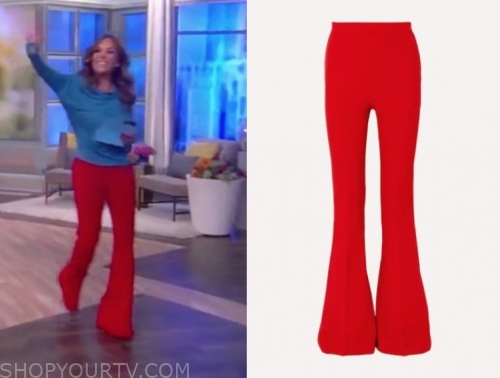 sunny hostin's red pants