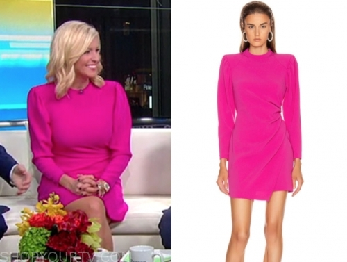 ainsley earhardt's pink dress