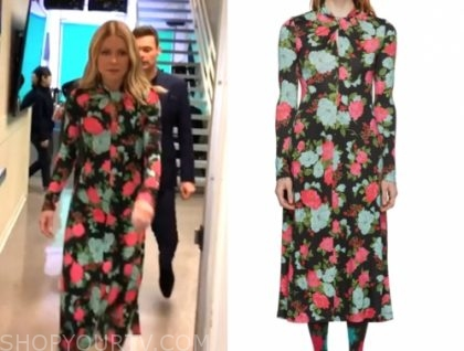 kelly ripa's floral twist midi dress