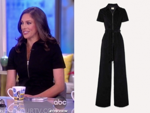 abby huntsman's black zipper jumpsuit