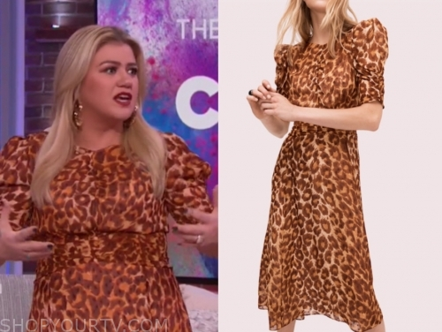 kelly clarkson leopard dress