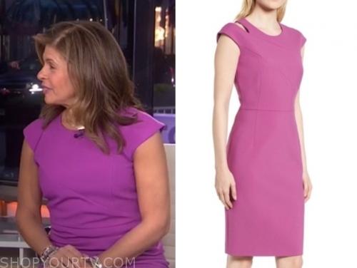 hoda kotb's purple dress