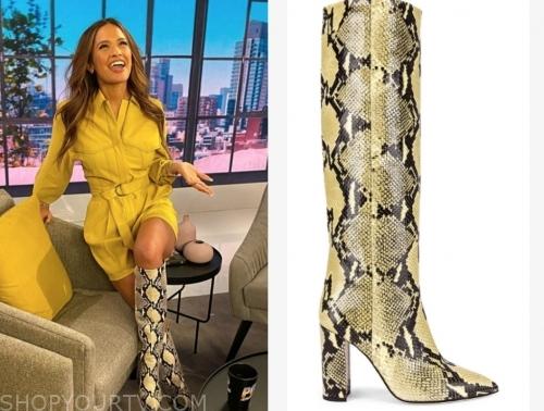 rocsi diaz's yellow snakeskin boots