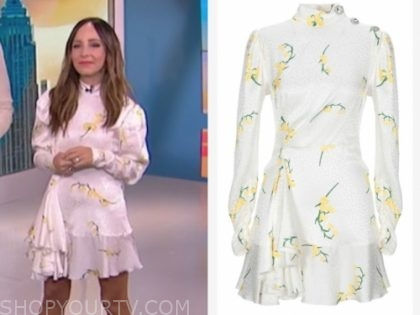 lilliana vazquez's white and yellow floral dress