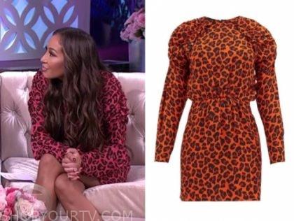 adrienne bailon's red leopard dress